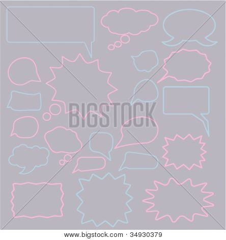 chat icons set, vector