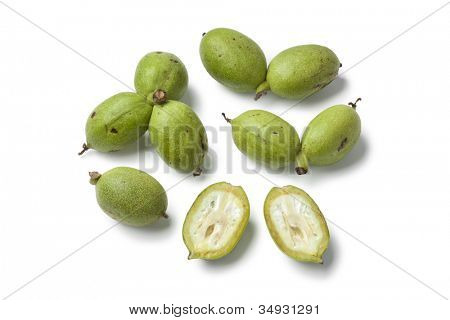 Fresh green walnuts are used to pickle or making walnut liqueur