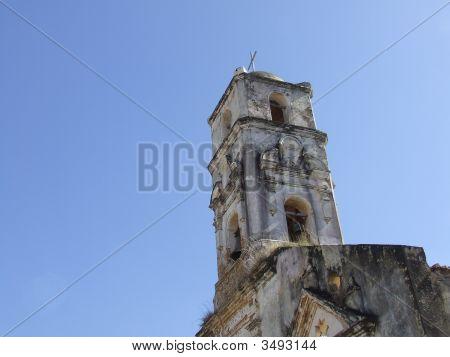 Bellfry Of A Vintage Ancient Church In Trinidad