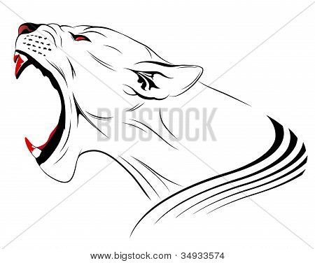 Abstract vector lioness