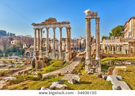 Ruinas romanas en Roma, foro