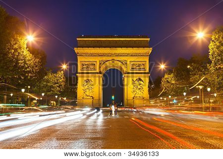 Arc de Triomphe - Arch of Triumph, Paris, France