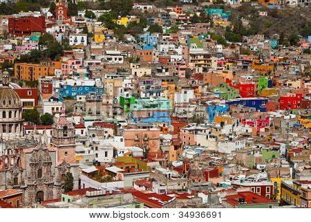 Colorful Houses On The Hills