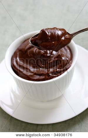 chocolate pudding, chocolate dessert