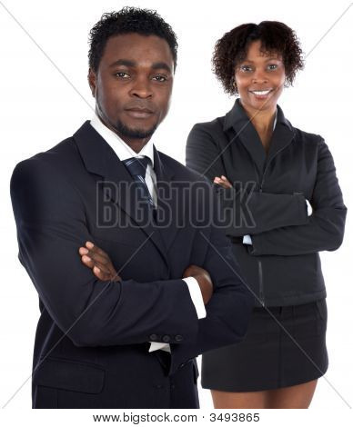 Couple Of Young Executives