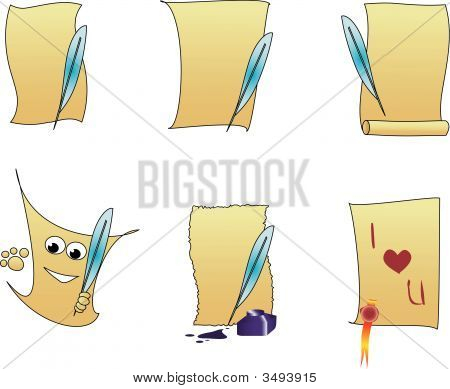 Vector Illustration Of Six Sheets