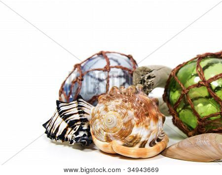 Marine Still Life With Glass Balls