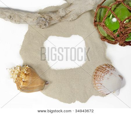 Sea Still Life With Sand And Copy Space