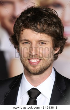 HOLLYWOOD, CA - JAN 27: Jon Heder attends the When In Rome premiere on January 27th 2010 at the El Capitan Theatre in Hollywood, California.