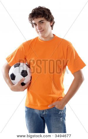 Young With Soccer Ball