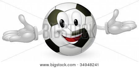 Homem de bola de futebol