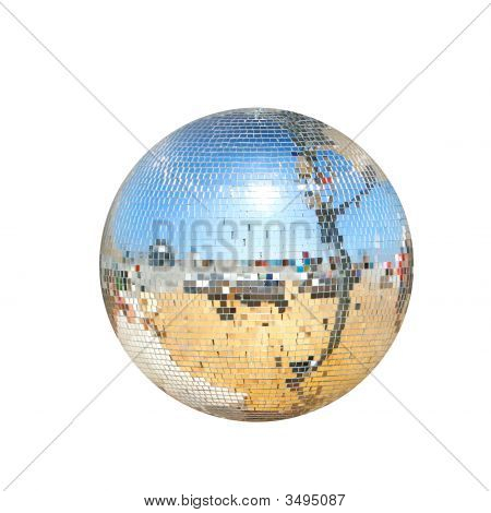 Disco Ball Isolated Over White