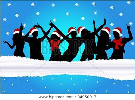 Christmas Time - Blue Background