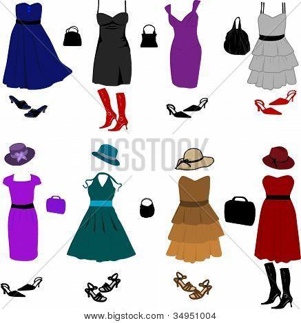 Vestidos e acessórios