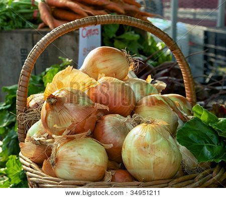 Onions In Basket