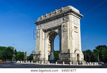 Arch Of Triumph Roundabout, Bucharest, Romania