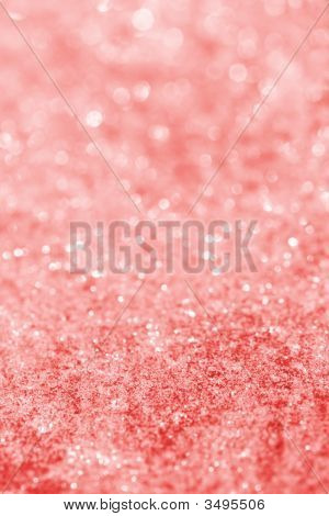 Pink Red Glitter Sparkles Dust On Background