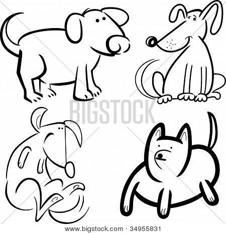 Hunde Oder Welpen Zum Ausmalen