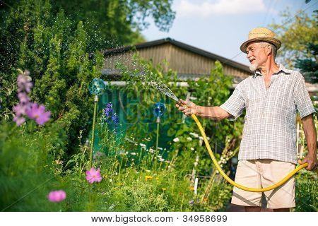 Drenken de tuin