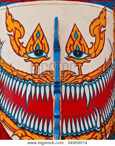 Provinz Loei, Thailand-Juli 23, 2012.: Ghost Festival (Phi Ta Khon) ist A Art des maskierten Prozession C