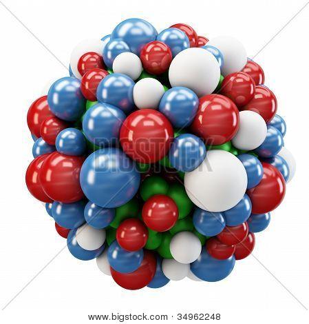 3D Cluster Of Spheres