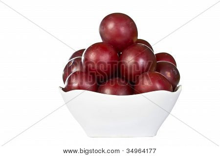 Ripe Juicy Plums