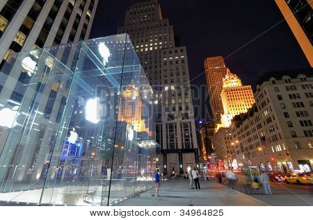 NEW YORK CITY - MAY 12: Entrance to the Apple Flagship Store near Grand Army Plaza May 12, 2012 in New York, NY. Apple is the largest publicly traded company in the world by market capitalization.