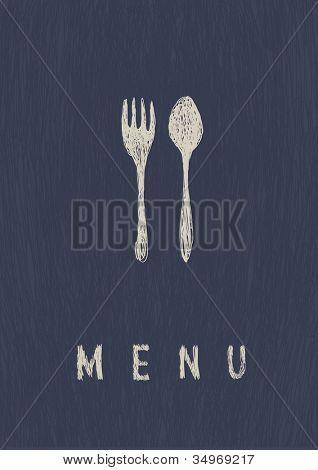 Stylish Restaurant  Menu. A4 format. Raster version.