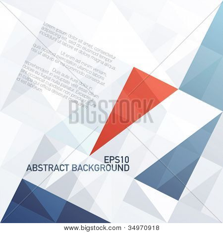 Abstract diamond shaped pattern tricolor background. Vector, EPS10