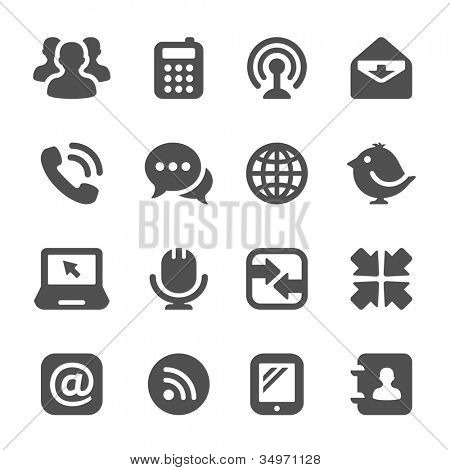Kommunikation-Symbole