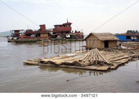 Houseboat And Ship