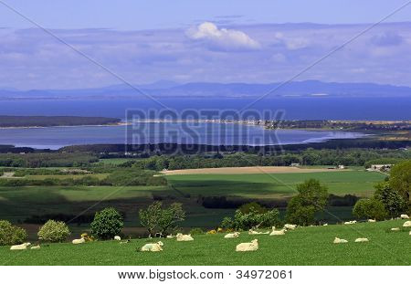 Findhorn Bay and Moray Firth
