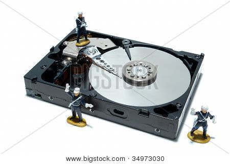 Computer Hard Disc Drive Concept For Security