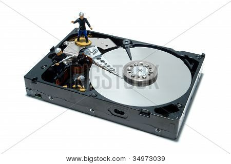 Computer Hard Disc Drive Concept For Firewall