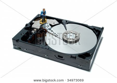 Computer Hard Disc Drive Concept For Backup