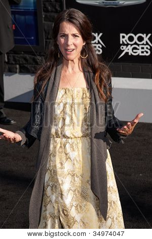 HOLLYWOOD, CA - JUNE 08: Martha Quinn arrives at the premiere of Warner Bros. Pictures' 'Rock of Ages' at Grauman's Chinese Theatre on June 8, 2012 in Hollywood, California.