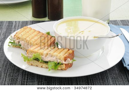 Soup And Sandwich With Mild
