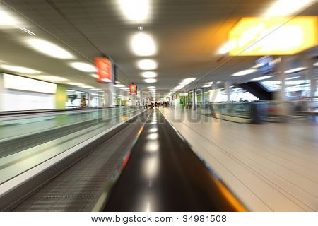 background of moving escalator