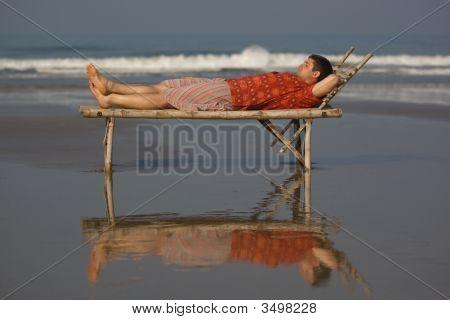Entspannen Sie am Strand