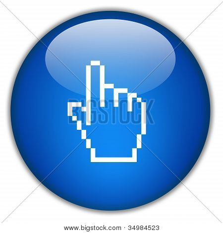 Hand icon click here