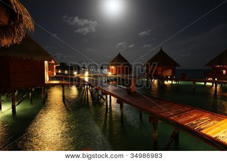 Maldives during moonshine
