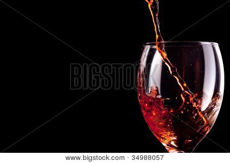 Empty stemware being filled with wine