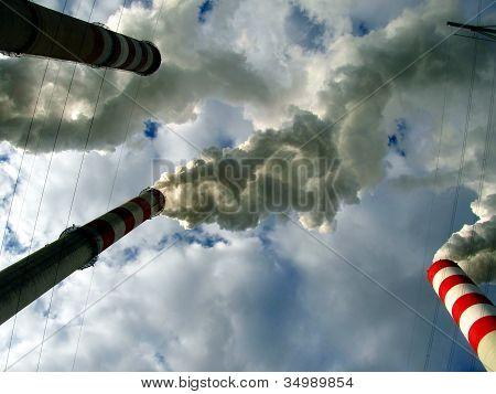 Under Fuming (smoke) Chimney