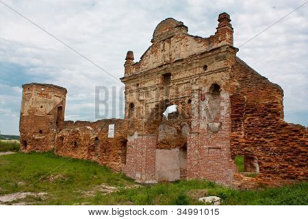 Ruins gate Carthusian monasteries in Belarus