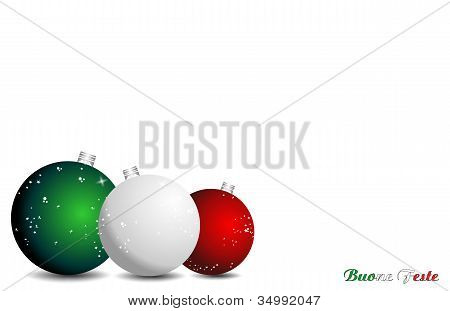Italian Christmas background