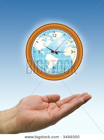 Hands And Clock