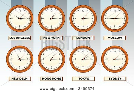 Wall Time Clocks