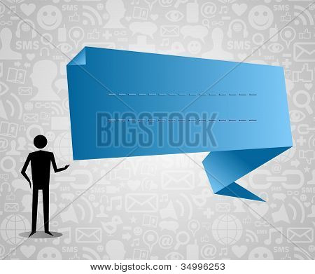 Man With Social Media Speech Bubble
