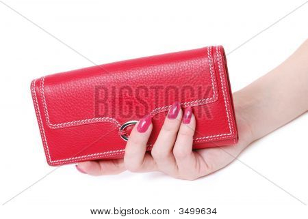 Hand With Purse Feminine Red