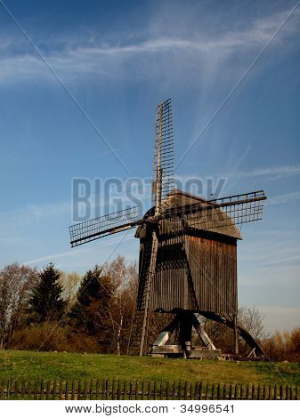 View of period windmill